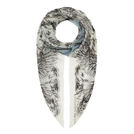 Eagle and Leaves Printed Scarf, ${color}