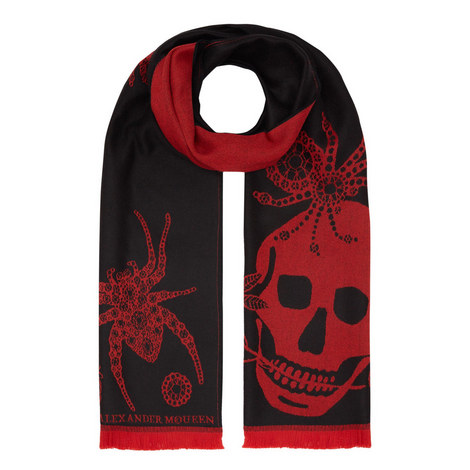 Jewelled Spider Skull Scarf, ${color}