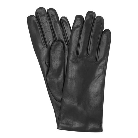 Cashmere-Lined Leather Gloves, ${color}