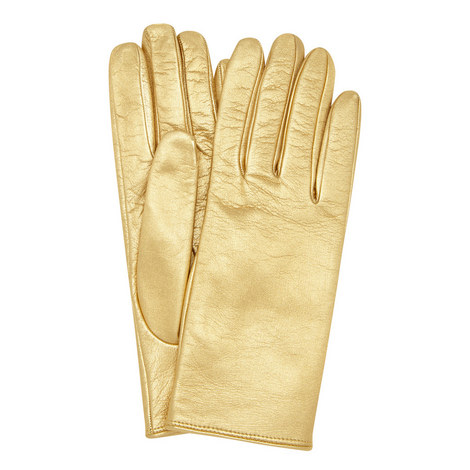 Metallic Leather Gloves, ${color}