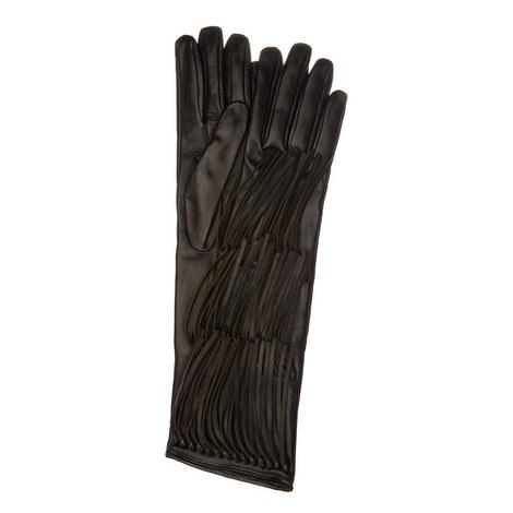 Fringed Leather Gloves, ${color}