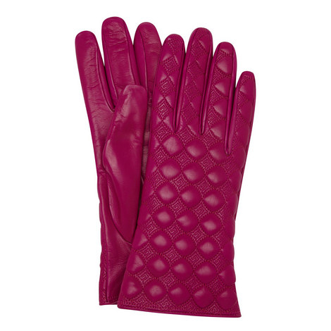 Quilted Leather Gloves, ${color}
