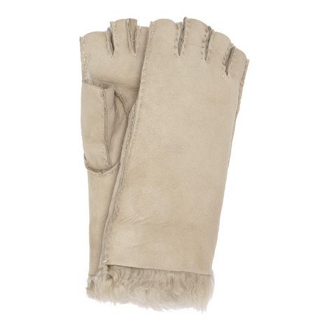Fingerless Shearling Gloves, ${color}