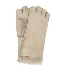 Fingerless Shearling Gloves
