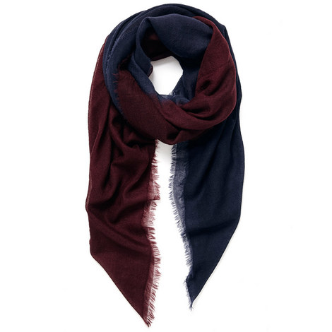Wave Carre Cashmere Scarf, ${color}