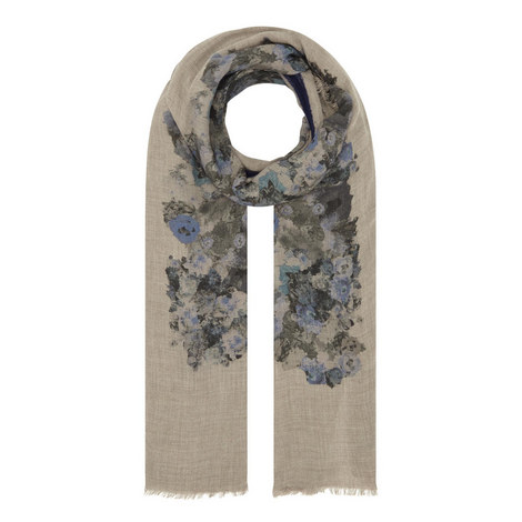 Frances Floral Scarf, ${color}