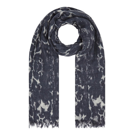 Chloe Printed Cashmere Scarf, ${color}