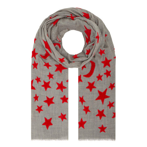 Velvet Star Pattern Scarf, ${color}