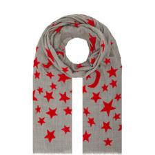 Velvet Star Pattern Scarf