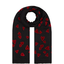 You Had Me At Hello Heart Print Scarf