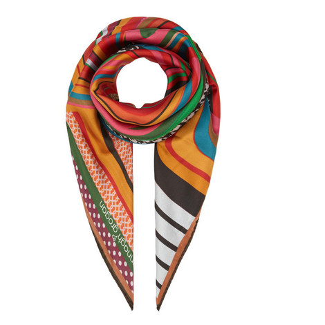 Swirl Print Scarf Medium, ${color}