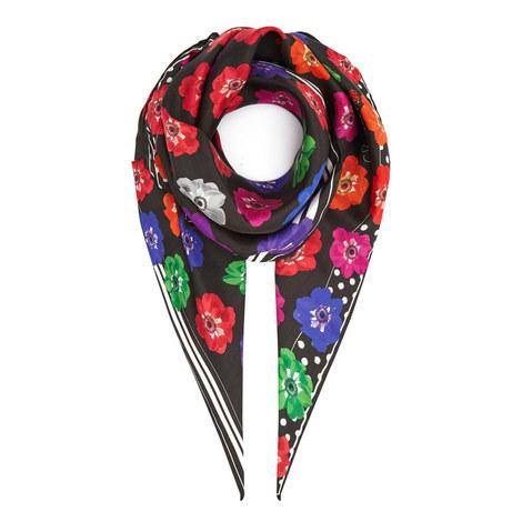 Flower Silk Scarf, ${color}