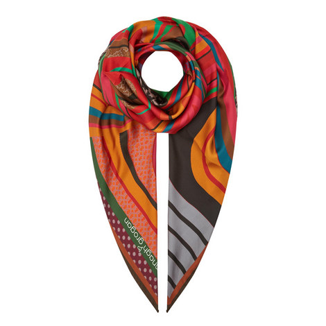Swirl Print Scarf Large, ${color}