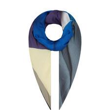 Ribbon Print Silk Scarf