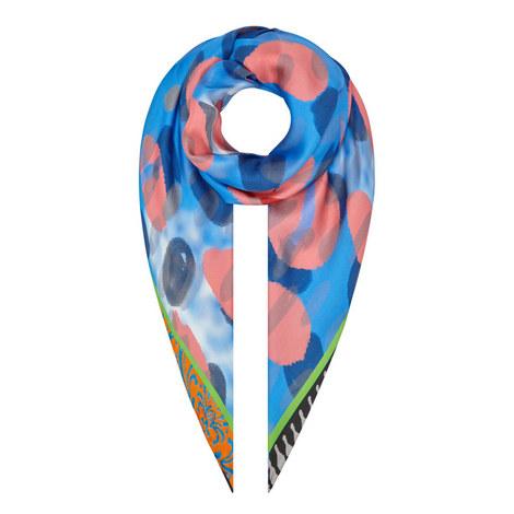 Silk Print Scarf, ${color}