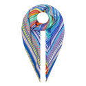 Printed Silk Square Scarf, ${color}