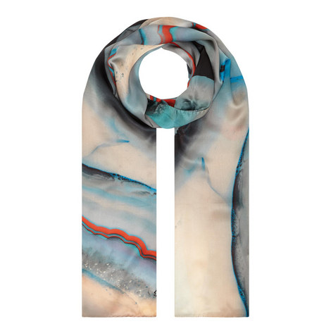 Printed Silk Scarf, ${color}