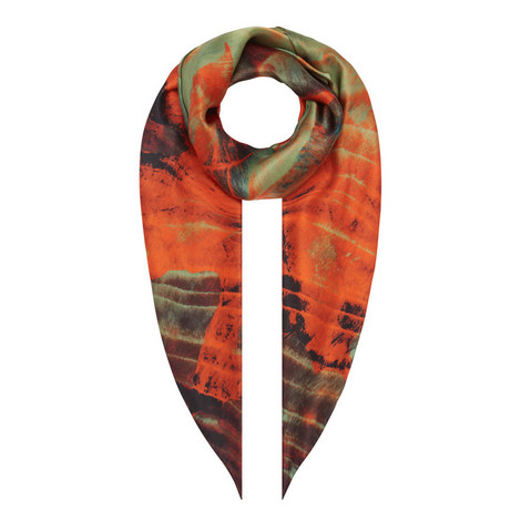 Print Silk Scarf, ${color}
