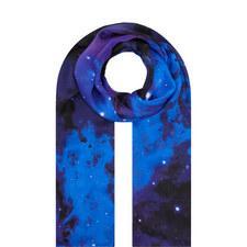 Nocturnal Nebula Silk Scarf