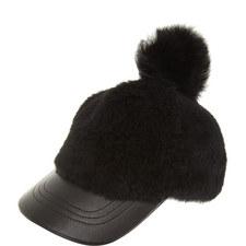 Pom Pom Lambskin Cap