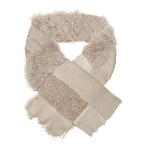 Patchwork Lambskin Scarf, ${color}
