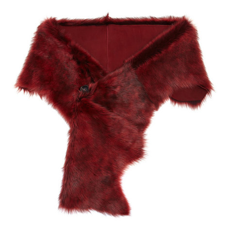 Foxy Toscana Lambskin Button Scarf, ${color}