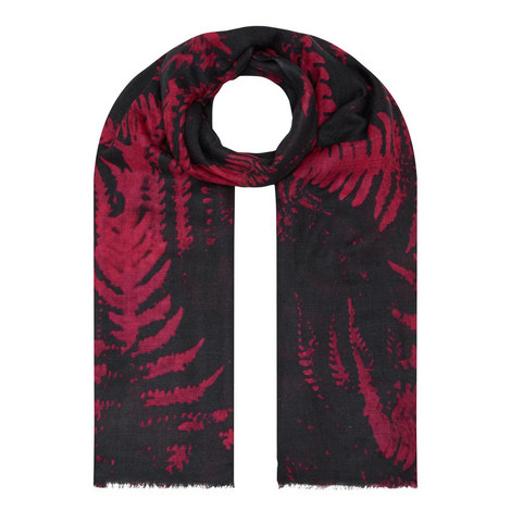 Forest Fern Print Scarf, ${color}