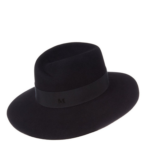 Virginie Felt Fedora Hat, ${color}