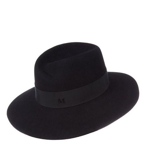 Virginie Felt Fedora Hat, ${color}