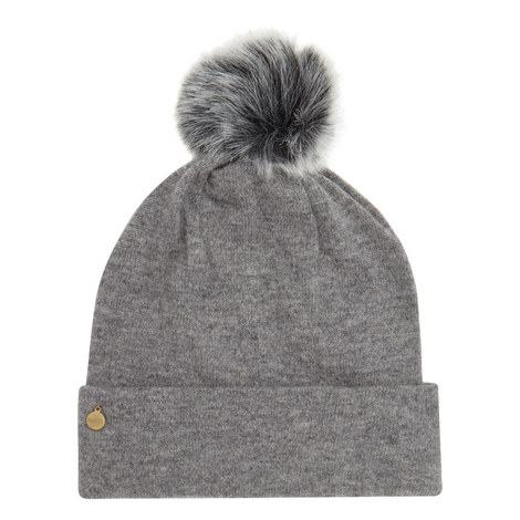Cashmere Pom Pom Beanie Hat, ${color}