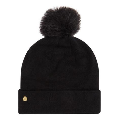 Cashmere Pom Pom Beanie Hat, ${color}