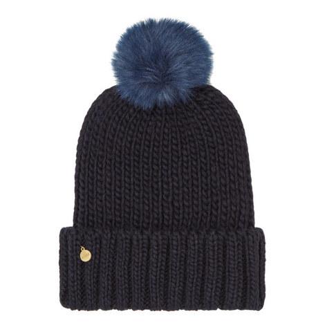 Faux Fur Pom Pom Hat, ${color}