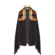 Wool and Faux Fur Scarf
