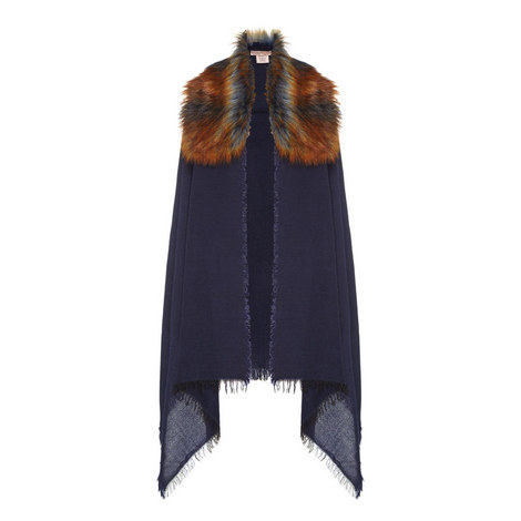 Wool and Faux Fur Scarf, ${color}