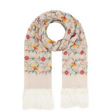 Ramaged Embroidered Floral Scarf