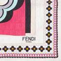 Fun Fair Square Silk Scarf, ${color}