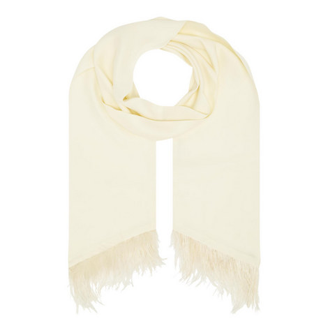 Feather Trim Foulard, ${color}