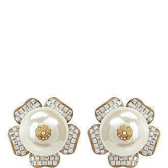 Pearl Clip Earrings