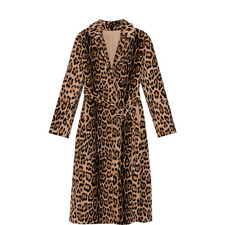Reversible Leopard Print Faux Fur Coat