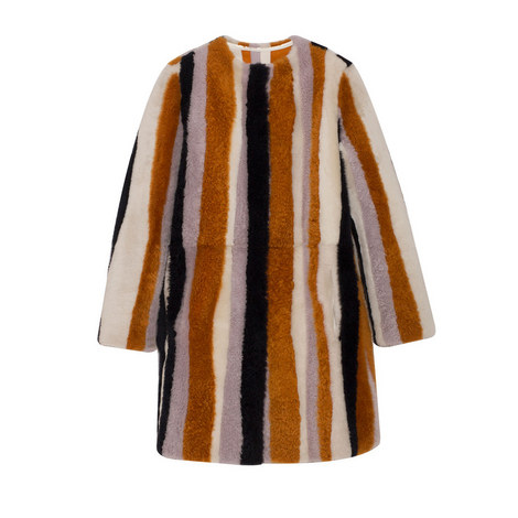 Stripe Shearling Coat, ${color}