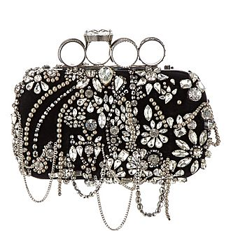 Four Ring Chandelier Crystal Clutch