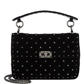Velvet Spike Medium Shoulder Bag