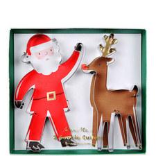 Santa and Reindeer Cookie Cutters