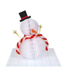 Honeycomb Snowman Card