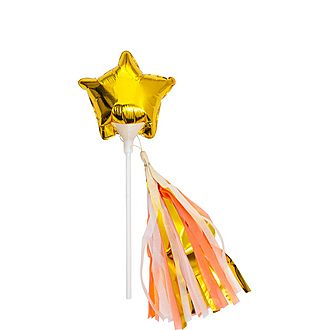 Mini Gold Star Balloon Wands