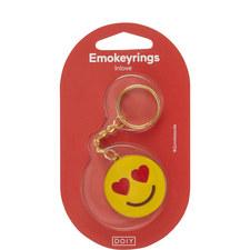 Love Emoji Keyring