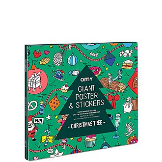 Christmas Tree: Giant Poster & Stickers