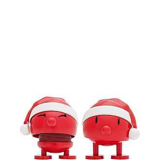 Two-Piece Santa Ornament Set
