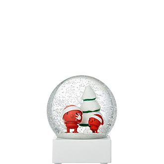 Large Santa Snow Globe