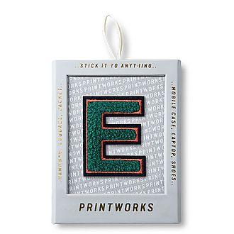 Fluffy Alphabet Sticker: E